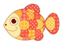 Application fish isolated. Children vector illustration Royalty Free Stock Image