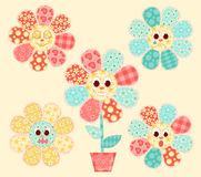 Application flowers set. Royalty Free Stock Photography