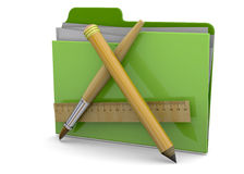 Application Folder - 3d. Application Folder on white background Stock Photo