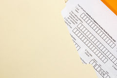 Application Form royalty free stock photography