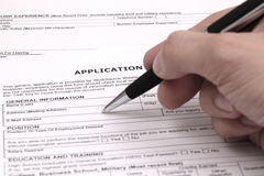 Application form. Concept for applying for a job Royalty Free Stock Image