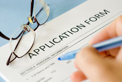 Application form Stock Photos