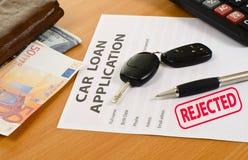 Application form for car loan