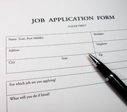 Application form concept for applying for a job Royalty Free Stock Photos