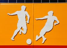 Applique on a sports theme Stock Photos