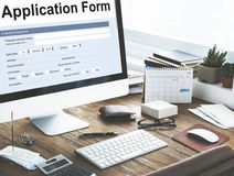Application Form Information Employment Concept Royalty Free Stock Photography