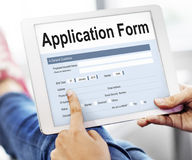 Application Form Information Employment Concept Royalty Free Stock Images