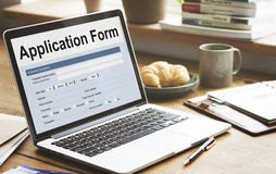 Application Form Information Employment Concept Royalty Free Stock Photos
