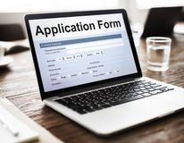 Application Form Information Employment Concept Stock Photography