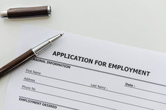 Application form to applying job stock photography