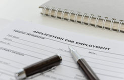 Application form to applying for a job Stock Photo