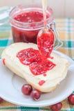 Application gooseberry jam spoon roll Stock Photography