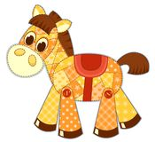 Application horse isolated Royalty Free Stock Image