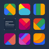 Application icon backgrounds. Material design. Set 02 Royalty Free Stock Photos