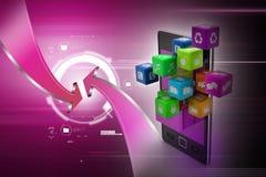 Application icon concept Stock Photo