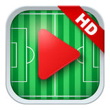 Application icon for live sports broadcasts or Stock Image