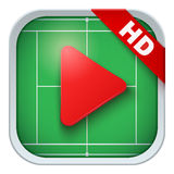 Application icon for live sports broadcasts or Royalty Free Stock Image