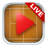 Application icon for live sports broadcasts or Royalty Free Stock Photo