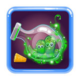 Application icon with monsters in bottle Stock Photo