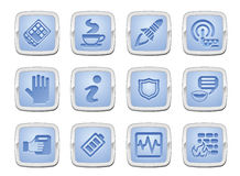 Application icon set Stock Photos