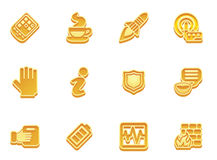 Application icon set Royalty Free Stock Photo