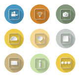 Application icon set  flat design vector illustration Stock Photos
