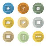Application icon set  flat design vector illustration Stock Photos