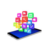 Application icon on smartphone,cell phone illustration Royalty Free Stock Photo