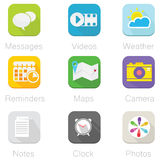 Application Icon. Application stylish icons great for web,presentation and print Stock Photo
