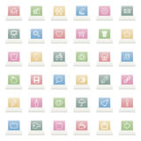 Application icons Royalty Free Stock Photography