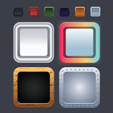 Application icons Royalty Free Stock Images