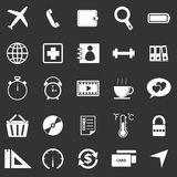 Application icons on black background. Set 2 Royalty Free Stock Photo