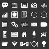 Application icons on black background Royalty Free Stock Images