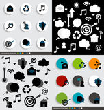 Application icons design. Vector illustration. Royalty Free Stock Photo