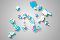 Application icons on grey screen Royalty Free Stock Photos