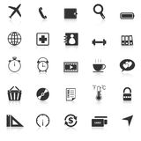 Application icons with reflect on white background Stock Image
