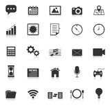 Application icons with reflect on white background Stock Photography