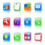 Application icons set Royalty Free Stock Photos