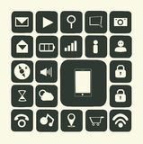 Application icons for smartphone Royalty Free Stock Images