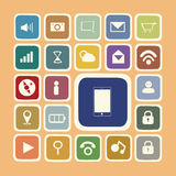 Application icons for smartphone and web Stock Image