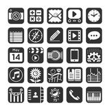 Application icons for smartphone and web. Stock Photography