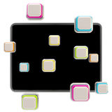 Application icons surround pad flat srceen Stock Image