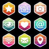 Application Icons trendy Design on black. Vector Royalty Free Stock Photo