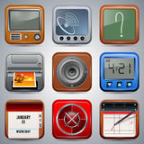 Application icons vector set Stock Images