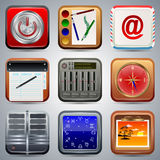 Application icons vector set Royalty Free Stock Image