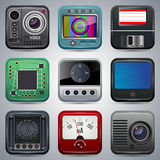 Application icons vector set Royalty Free Stock Photos