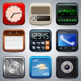 Application icons vector set Royalty Free Stock Images