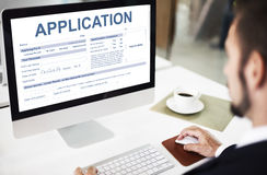 Application Information Employment Concept. Application Registration Form Information Employment Royalty Free Stock Image