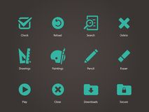 Application interface icons. Royalty Free Stock Image
