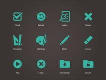 Application interface icons. Vector illustration royalty free illustration